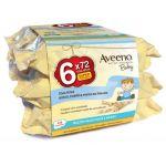 Aveeno Baby Toalhitas Limpeza 6x72 Unidades