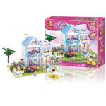 Sluban Girls Dream Casa com Jardim 539 Peças - SL0535