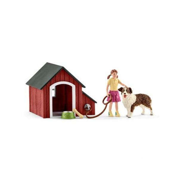 Schleich Farm World Dog Kennel - 42376