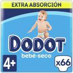 Dodot Fraldas Extra T4 9-15Kg x74