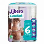 Libero Fraldas Comfort Fit Tamanho 6 XL 13-20Kg 8x22 un.