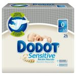 Dodot Fraldas Sensitive T0 3Kg x24 Pack de 8