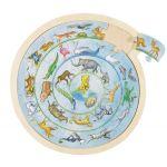 Goki Puzzle de Madeira Circular - Animais da Selva - 57790