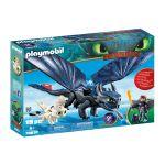 Playmobil Dragons Hiccup e Desdentado com Dragão Bébé - 70037