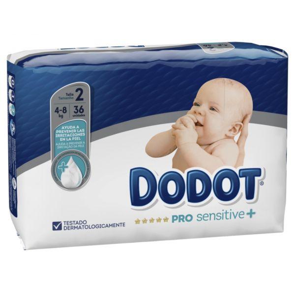 Dodot Pro-sensitive+ Fraldas T2 4-8Kg 36 un.