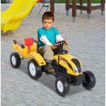 Trator de Pedais com Atrelado para Crianças 123x42x51 cm - m3118