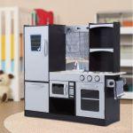 HomCom Cozinha infantil +3 anos Acessórios de Forno Microondas Pia 105x31,5x95cm