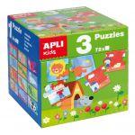 Apli Caixa 3 Puzzles - 14114