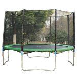 HomCom Rede de Segurança trampolim redondo protetor Ø 366 cm 8 barras