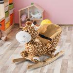 HomCom Cavalito de Baloiço bebé +18 meses Cadeira de Baloiço de Girafa