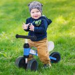 Homcom Triciclo de Bicicleta sem Pedais para Criança 1-3 Anos Azul 47x19x35cm