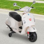 Homcom Triciclo Elétricos Vespa Scooter Elétrico para Crianças 3-6 Anos