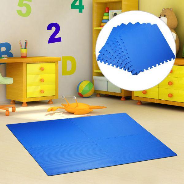 HM Tapete Puzzle Azul Borracha Espuma EVA