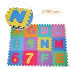 HM Tapete Puzzle com Letras e Números para Criança