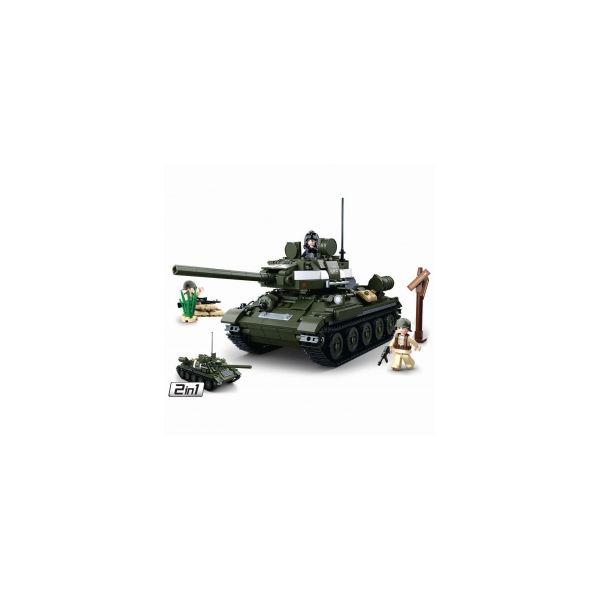 Sluban Wwii Medium Tanque 2 em 1 686 Pcs - SL0689