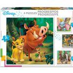Educa 4x Puzzle Progressivo Disney Animais - ED18104