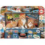 Educa Puzzle Junior 200 Gatinhos Viajantes - ED18065