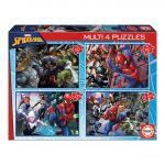 Educa Borrás Multi 4 Puzzles 50-80-100-150 Peças Ultimate Spider-Man