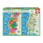 Educa Puzzle Distritos de Portugal + Mapa Fisico - 18297