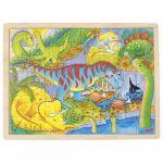 Goki Puzzle de Madeira Dinossauros - 57724