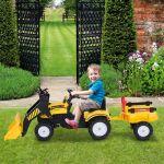Homcom Trator Pedal Escavadeira 167x41x52cm