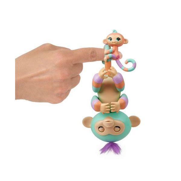 Concentra Fingerlings Bebé Panda Interativo Danny Verde c/ Mini Mascote