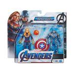 Hasbro Os Vingadores - Captain Marvel e Capitão América