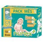 Nunex Pack Mensal T5 - 156 Fraldas + 216 Toalhitas
