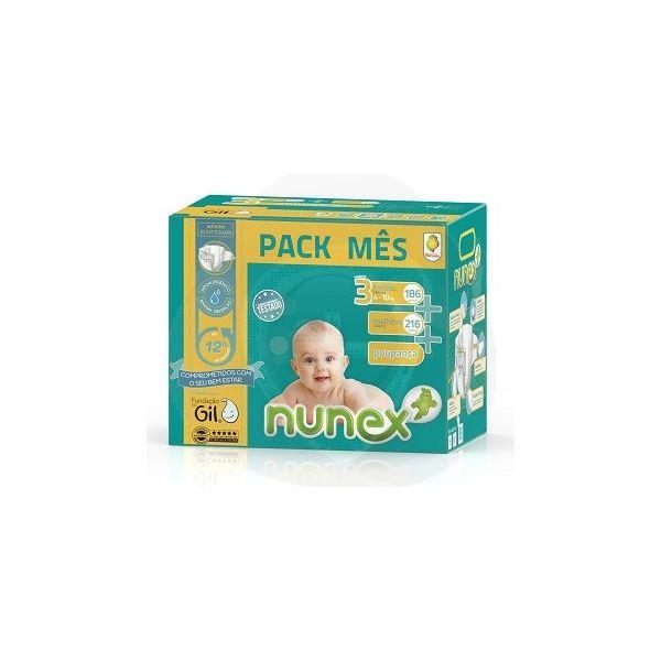 Nunex Pack Mensal Nunex T3 - 186 Fraldas + 216 Toalhitas