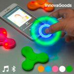 Spinner Fidget LED com Alta Voz e Bluetooth InnovaGoods Branco