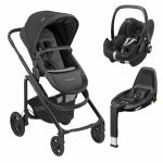 Bébé Confort Conjunto Trio Lila CP + Pebble Pro + Base 3WayFix Essential Black