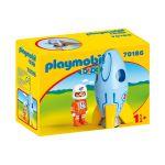 Playmobil 1.2.3. - Astronauta com Foguetão - 70186