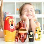 Bonecas de Madeira com Figuras e Animais 11 Peças - 068-350:06876