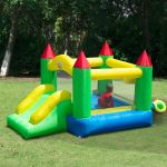 Castelo Insuflável para Crianças Tecido de Nylon 420D Verde - 342-001