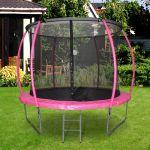 HomCom Trampolim ao Ar Livre para Adultos e Crianças 244cm de Diâmetro Rosa - A71-011PK