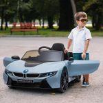 Aosom Carro Elétrico BMW I8 115x72,5x46 cm Azul
