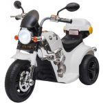 Homcom Motocicleta Elétrica com 3 Rodas Buzina Música Faróis 87x46x54 Branco - 370-110V90WT
