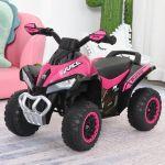 Homcom Quadriciclo para Crianças com luzes e música 67.5x38x44 Rosa - 370-096PK