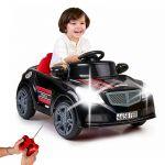 Carro Eléctrico Twinkle 12V com Controlo Remoto Preto