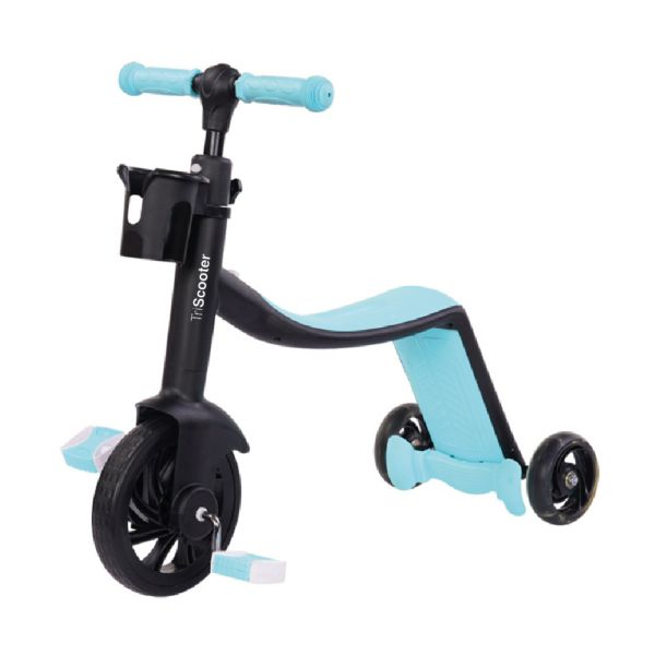 Biwond Triciclo Infantil 3 em 1 Triscooter (azul) - BW0061
