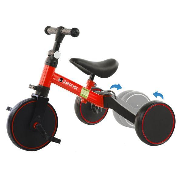 Biwond Triciclo Infantil Conversível 3 em 1 Jungle Mix (vermelho) - BW0064