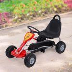 Homcom Kart Com Pedais Carga Máxima 30kg 89x52x51 Cm Vermelho E Preto