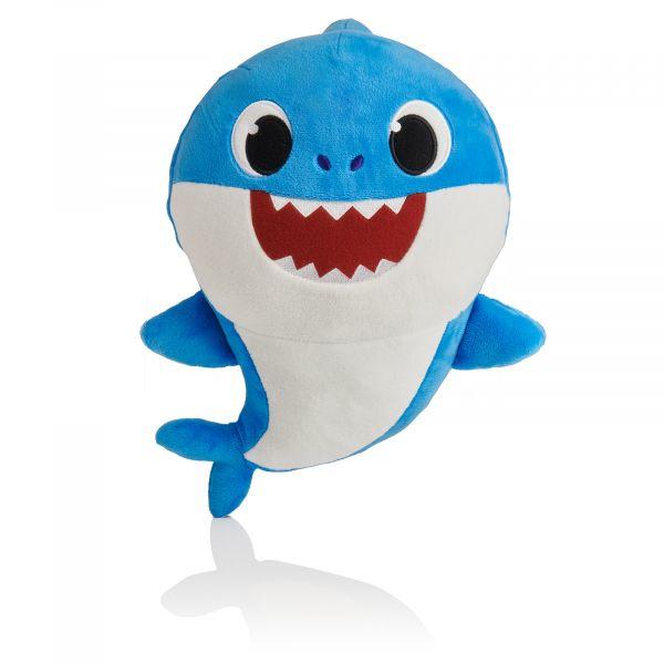 Concentra Baby Shark Peluche Médio Musical Azul - 116044-2