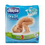 Chicco Fraldas Dry Fit Midi T3 4-9kg x21