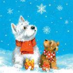 Ti-Flair Pack 20 Guardanapos 2 Cães na Neve