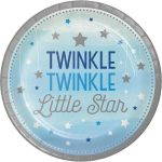 Creative Converting Pack 8 Pratos 23cm One Little Star Azul