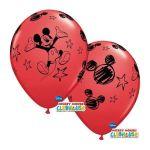 """Qualatex Pack 6 Balões 11"""" Mickey Vermelho - 020019231"""