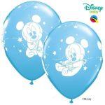 Qualatex Pack 6 Balões Disney Mickey Baby Pale Blue - 020053550