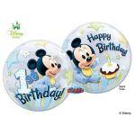 Qualatex Balão Bubble Disney Baby Mickey 1º Aniversário - 020012864