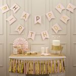 Ginger Ray Grinalda Happy Birthday Pastel Perfection Rosa - 340000616
